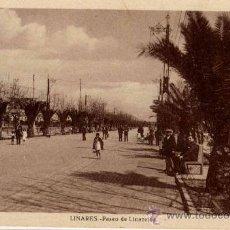 Postales: LINARES(JAÉN).-PASEO DE LINAREJOS. Lote 17338002