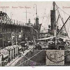 Postales: HUELVA, VAPOR DON HUGO. EMBARQUE DE COBRE ( BARCO ). ED. PAPELERIA INGLESA. CIRCULADA EN 1911. Lote 25893376