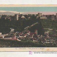 Postales: GRANADA. VISTA GENERAL DE LA ALHAMBRA. (L. ROISIN). Lote 18147458