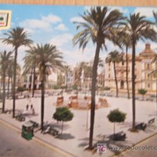 Postales: HUELVA. PLAZA DE LA MERCED Y CATEDRAL AL FONDO.. Lote 26562154
