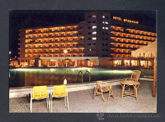 POSTAL DE ROQUETAS DE MAR (ALMERIA): HOTEL PLAYASOL (ED.FLORES BARAZA NUM.178) (Postales - España - Andalucia Moderna (desde 1.940))