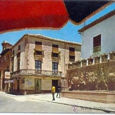 Postales: TARJETA POSTAL DE ALCALA LA REAL PILAR DE LOS ALAMOS Y CARRERA DE LAS MERCEDES JAEN . Lote 18716543