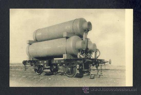 POSTAL DE MATAGORDA (CADIZ): VAGON DEPOSITO DE GAS. TREN (HAUSER Y MENET) (Postales - España - Andalucía Antigua (hasta 1939))