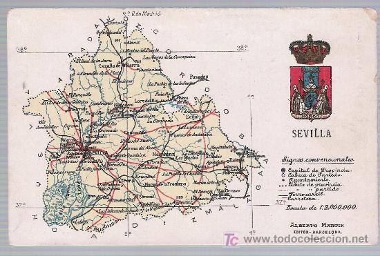 Provincia De Sevilla Mapa.Sevilla Mapa De La Provincia