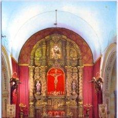 Postales: TARJETA POSTAL DE PEÑARROYA-PUEBLONUEVO PARROQUIA SANTA BARBARA ALTAR MAYOR CORDOBA CRISTO IGLESIA. Lote 22263137