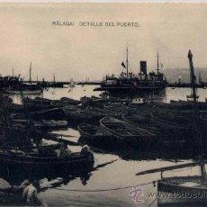 Postales: MÁLAGA.-DETALLE DEL PUERTO. Lote 18888156