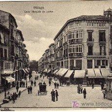 Postales: MAGNIFICA POSTAL - MALAGA - CALLE MARQUES DE LARIOS . Lote 18964018