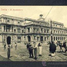 Postales: POSTAL DE SEVILLA: EL AYUNTAMIENTO (ED.CHAPARTEGUY NUM.1905 28382) (ANIMADA). Lote 19123901
