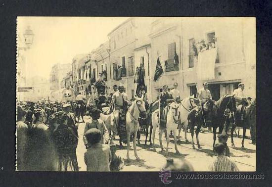 POSTAL DE SEVILLA: GRUPO DE HERMANOS DE LA HERMANDAD DEL ROCIO (COL.BARREIRO NUM.12) (ANIMADA) (Postales - España - Andalucía Antigua (hasta 1939))