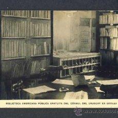 Postales: POSTAL DE SEVILLA: BIBLIOTECA AMERICANA PUBLICA GRATUITA DEL CONSUL DEL URUGUAY. Lote 19124812