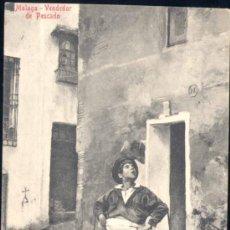 Postales: MÁLAGA.- VENDEDOR DE PESCADO. Lote 19278170