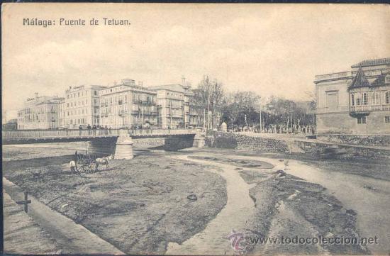 MÁLAGA.- PUENTE DE TETUÁN (Postales - España - Andalucía Antigua (hasta 1939))