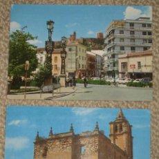 Postales: ALCALÁ LA REAL, JAEN. DOS POSTALES, AÑOS 70, CIRCULADAS. Lote 24390225