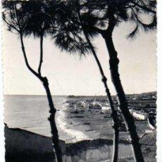 Postales: MÁLAGA. TORREMOLINOS. Nº 48. PLAYAS DE LA CARIHUELA. FOTO CORTÉS. CIRCULADA.. Lote 195254013