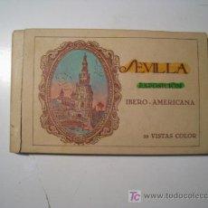 Postales: SEVILLA: EXPOSICION IBERO AMERICANA - ALBUM 20 POSTALES. Lote 19596521