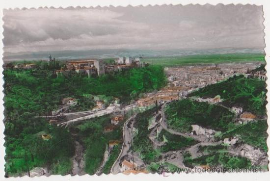 GRANADA -VISTA PARCIAL DESDE EL SACRO MONTE,EDICIONES SICILIA (Postales - España - Andalucia Moderna (desde 1.940))