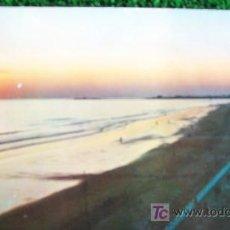 Postales: CADIZ-PUESTA DE SOL EN LA PLAYA-AÑOS 70. Lote 20615684