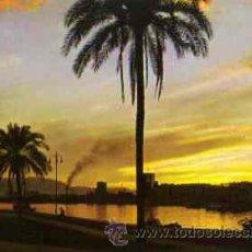 Postales: MALAGA (COSTA DEL SOL) - PUESTA DE SOL Y PASEO DE LA FAROLA. Lote 20388434