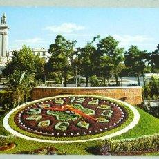 Postales: POSTAL CÁDIZ PLAZA ESPAÑA RELOJ FLORAL Y MONUMENTO A LAS CORTES. Lote 21013368