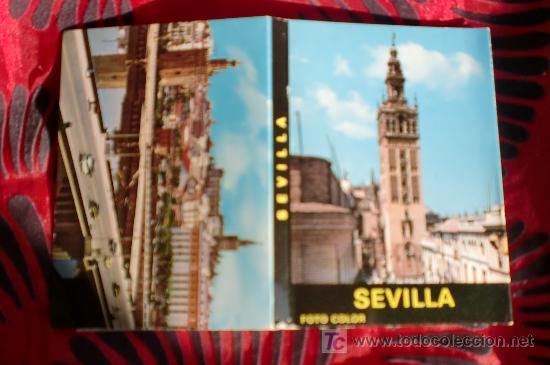 SEVILLA-12 POSTALES EN CARTERA-10,5X7,5CM-AÑOS 80 (Postales - España - Andalucia Moderna (desde 1.940))
