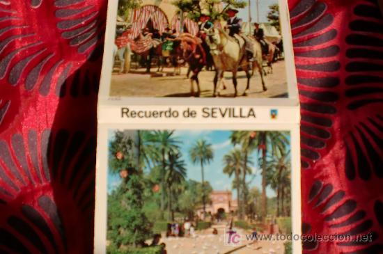 SEVILLA-18 POSTALES EN CARTERA-11X8CM-AÑOS 70 (Postales - España - Andalucia Moderna (desde 1.940))