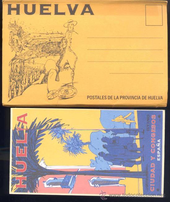 HUELVA.- 8 POSTALES DEL PATRONATO DE TURISMO DE HUELVA. REPRODUCIONES CARTELES AÑOS 30 (Postales - España - Andalucia Moderna (desde 1.940))