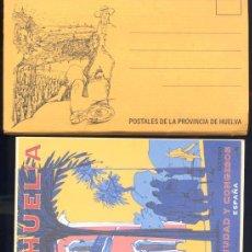 Postales: HUELVA.- 8 POSTALES DEL PATRONATO DE TURISMO DE HUELVA. REPRODUCIONES CARTELES AÑOS 30. Lote 21051843