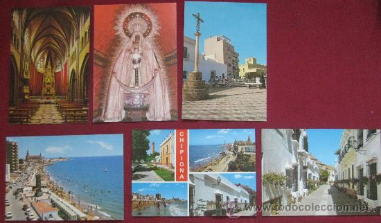 CADIZ : CHIPIONA 6 POSTALES COLOR (Postales - España - Andalucia Moderna (desde 1.940))