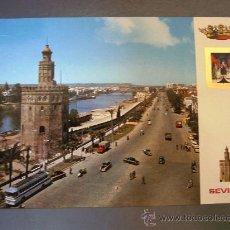 Postales: POSTAL DE SEVILLA -Nº4- TORRE DEL ORO Y GUADALQUIVIR (1ª COLECCION DE 14 MODELOS, CIRC. 1972). Lote 21491374