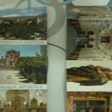 Postales: LIBRO ANTIGUO DE POSTALES DE GRANADA-LA CARTUJA 16 POSTALES.. Lote 25557971