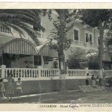 Postales: POSTAL FOURNIER AÑOS 50 DE LANJARON (GRANADA), HOTEL ESPAÑA. Lote 26625175