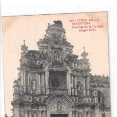 Postales: TARJETA POSTAL DE JEREZ DE LA FRONTERA. Nº698, PORTADA DE LA CARTUJA (SIGLO XIV). FOTOTIPIA THOMAS.. Lote 22116791