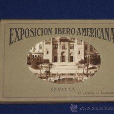 Postales: SEVILLA - EXPOSICION IBERO-AMERICANA 20 POSTALES HUECOGRABADO MUMBRÚ EN SOBRE. Lote 22122890
