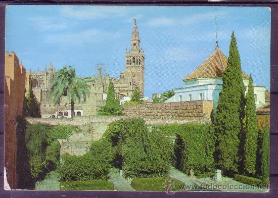 GIRALDA, VISTA DESDE LOS REALES ALCAZARES - SEVILLA (Postales - España - Andalucia Moderna (desde 1.940))
