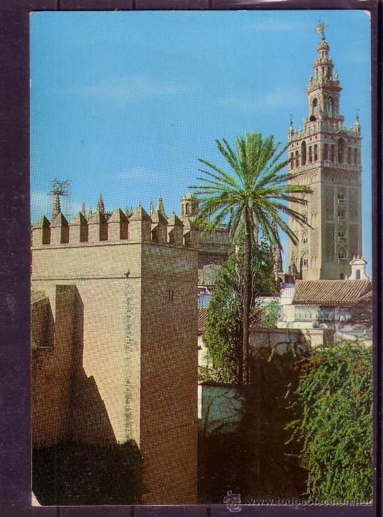 REALES ALCAZARES - GIRALDA - SEVILLA (Postales - España - Andalucia Moderna (desde 1.940))