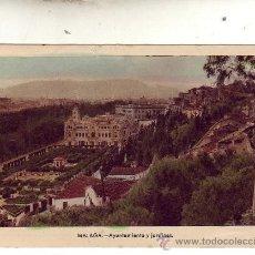 Postales: MALAGA - AYUNTAMIENTO Y JARDINES.. Lote 22512513