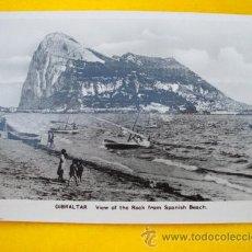 Postales: ANTIGUA POSTAL: VIEW OF THE ROCK FROM SPANISH BEACH - GIBRALTAR. ED L SACARELLO. Lote 22915109