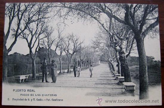 Antigua postal de puerto real cadiz paseo d comprar postales antiguas de andaluc a en - Las canteras puerto real ...