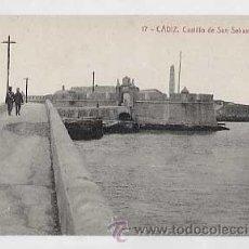 Postais: CADIZ. CASTILLO DE SAN SEBASTIAN Y FARO. FOTOTIPIA THOMAS. SIN CIRCULAR. Lote 22998252