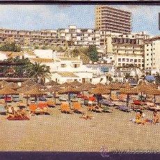 Postales: TORREMOLINOS - MALAGA - PLAYA DE EL BAJONDILLO Nº 17. Lote 23009484