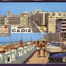 Postales: CADIZ - Nº 74 - AVENIDA CAYETANO DEL TORO Y PASEO MARITIMO. Lote 26310654