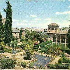 Postales: GRANADA - ALHAMBRA (TORRE DE LAS DAMAS Y JARDINES DEL PORTAL). Lote 23732107