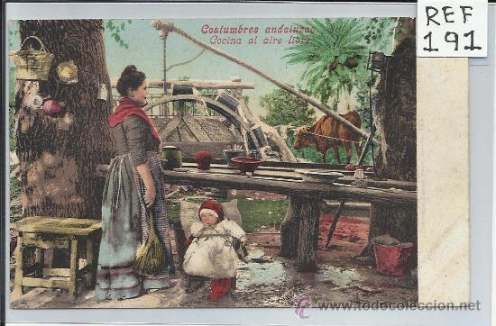 ANDALUCIA-COCINA AL AIRE LIBRE-COCINAS ANDALUZAS(REF-191) (Postales - España - Andalucía Antigua (hasta 1939))