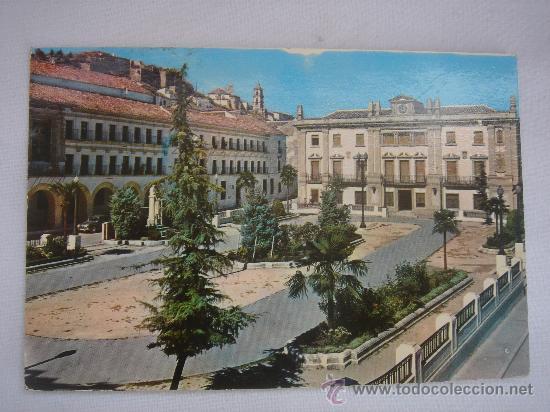 BAENA (CÓRDOBA), PLAZA DEL GENERALÍSIMO (17-12-1968). CIRCULADA, CON TEXTO Y SELLO 1 PTA FRANCO. (Postales - España - Andalucia Moderna (desde 1.940))