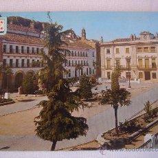 Postales: BAENA. PLAZA DEL GENERALÍSIMO. CIRCULADA, ESCRITA Y CON SELLO DE 1 PTA DE FRANCO (23-IV-67). Lote 27470647