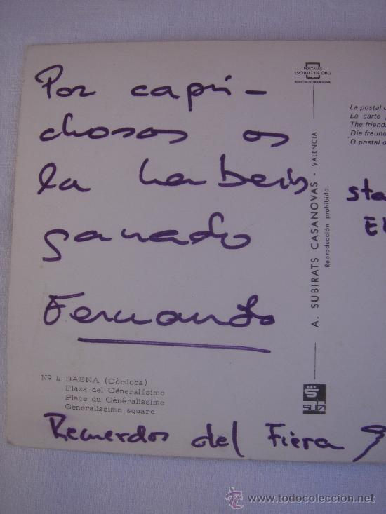 Postales: DETALLE IZQUIERDO DEL TEXTO - Foto 3 - 27470647