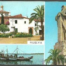 Postales: 22 - HUELVA - LA RABIDA Y MONUMENTO A COLON - G. GARRABELLA - ESCRITA. Lote 25096451