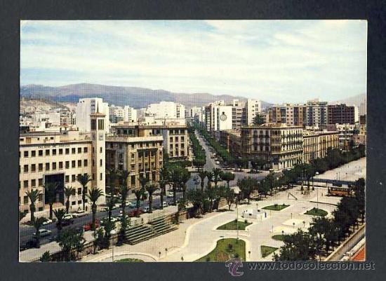 POSTAL DE ALMERIA: RAMBLA DE BELEN Y AVDA.GENERALISIMO (ED.ARRIBAS NUM.68) (Postales - España - Andalucia Moderna (desde 1.940))