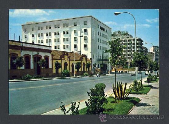 POSTAL DE HUELVA: ALAMEDA SUNDHEIM, Y PALACIO DE JUSTICIA (ED.RO-FOTO NUM.903) (Postales - España - Andalucia Moderna (desde 1.940))