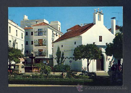 POSTAL DE MARBELLA (MALAGA): PLAZA QUEIPO DE LLANO, ERMITA DE SANTIAGO (ED.G.GARRABELLA NUM.10) (Postales - España - Andalucia Moderna (desde 1.940))